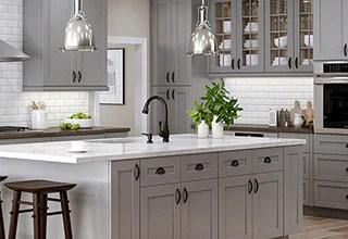 kitchen hardware overmount sink costco cabinets