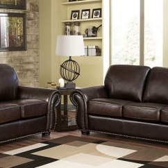 2 Piece Brown Leather Sofa Pull Out Bed Queen Size Breckenridge Costco Introducing The Top Grain Set By Abbyson Living With Its Perfect Mix Of Style Comfort And Elegance Will Add
