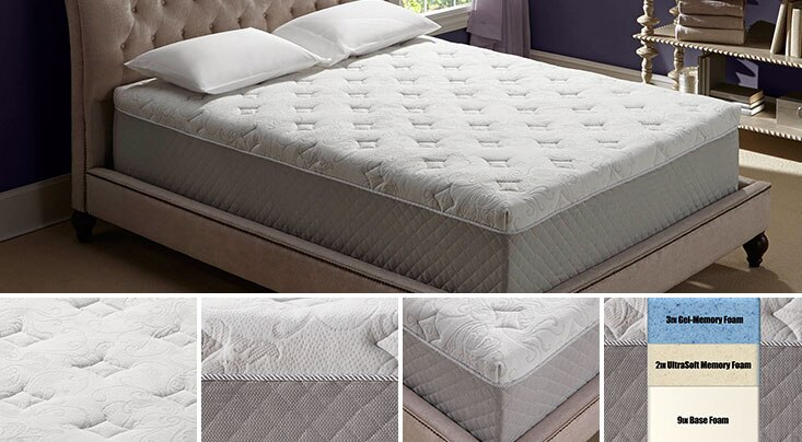 Novaform Primafina Gel Memory Foam Mattress  Costco