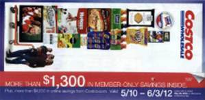 May 2012 Costco coupon book cover
