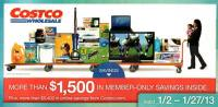 January 2013 Costco Coupon Book Cover