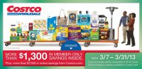 March 2013 Costco Coupon Book Cover