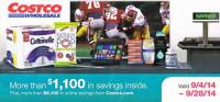 September 2014 Costco Coupon Book Cover
