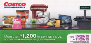 November 2015 Costco Coupon Book Cover