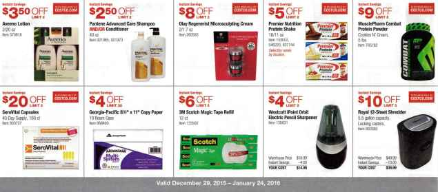 January 2016 Costco Coupon Book Page 5