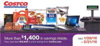 February 2016 Costco Coupon Book Cover