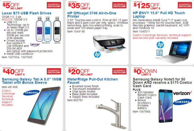 April 2016 Costco Coupon Book Page 2