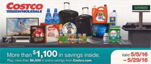 May 2016 Costco Coupon Book Cover