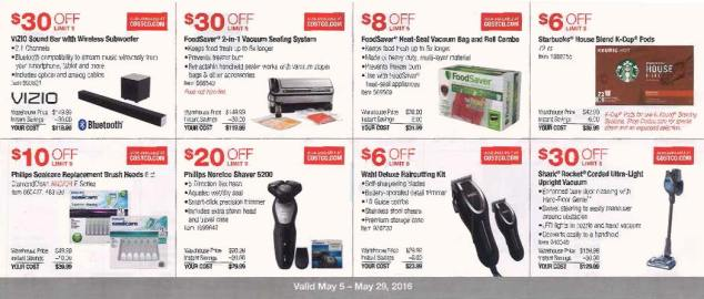 May 2016 Costco Coupon Book Page 3