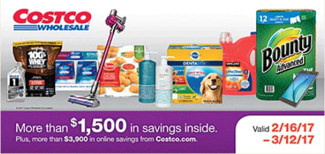 February 2017 Costco Coupon Book Cover