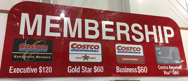 Costco Membership Sign