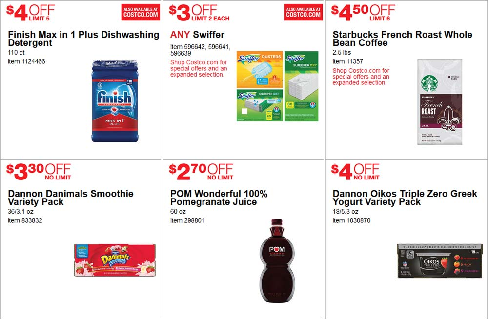 Fancy June Costco Coupon Book Page