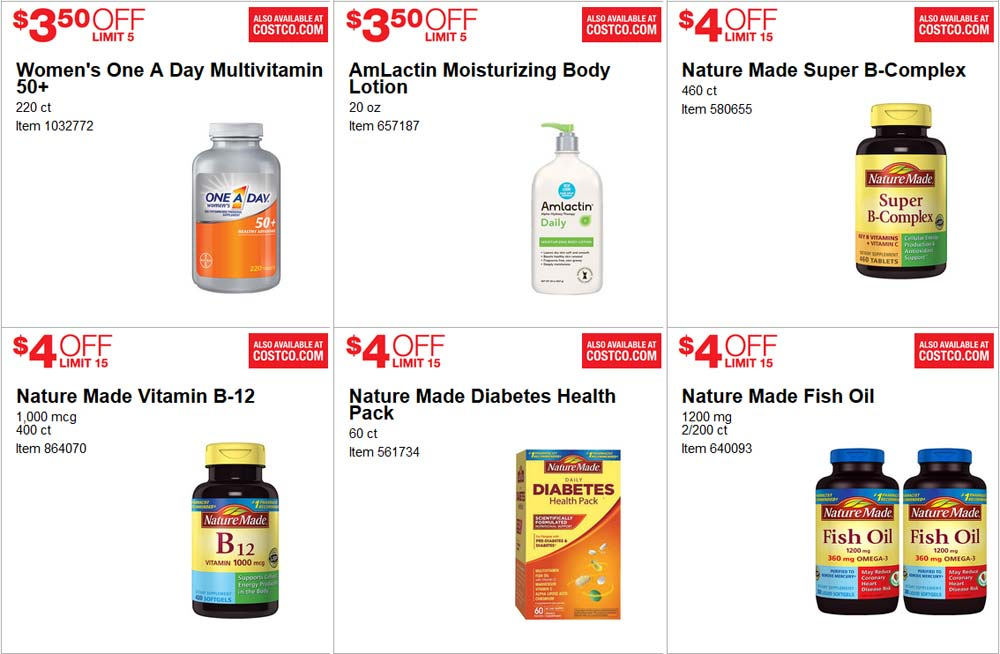 Fresh June Costco Coupon Book Page