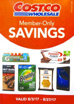 costco august coupon book cover - Costco
