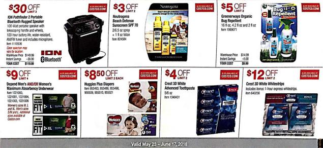 Costco Coupons May 2018 Page 13