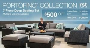 Portofino Collection 7 Piece Deep Seating Set