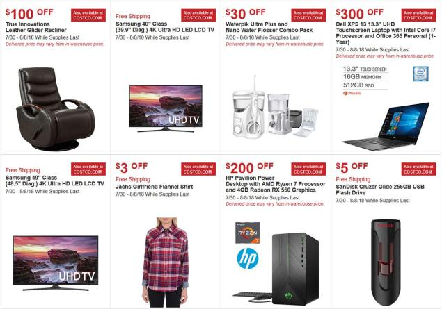Costco Hot Buys August 2018 Page 1