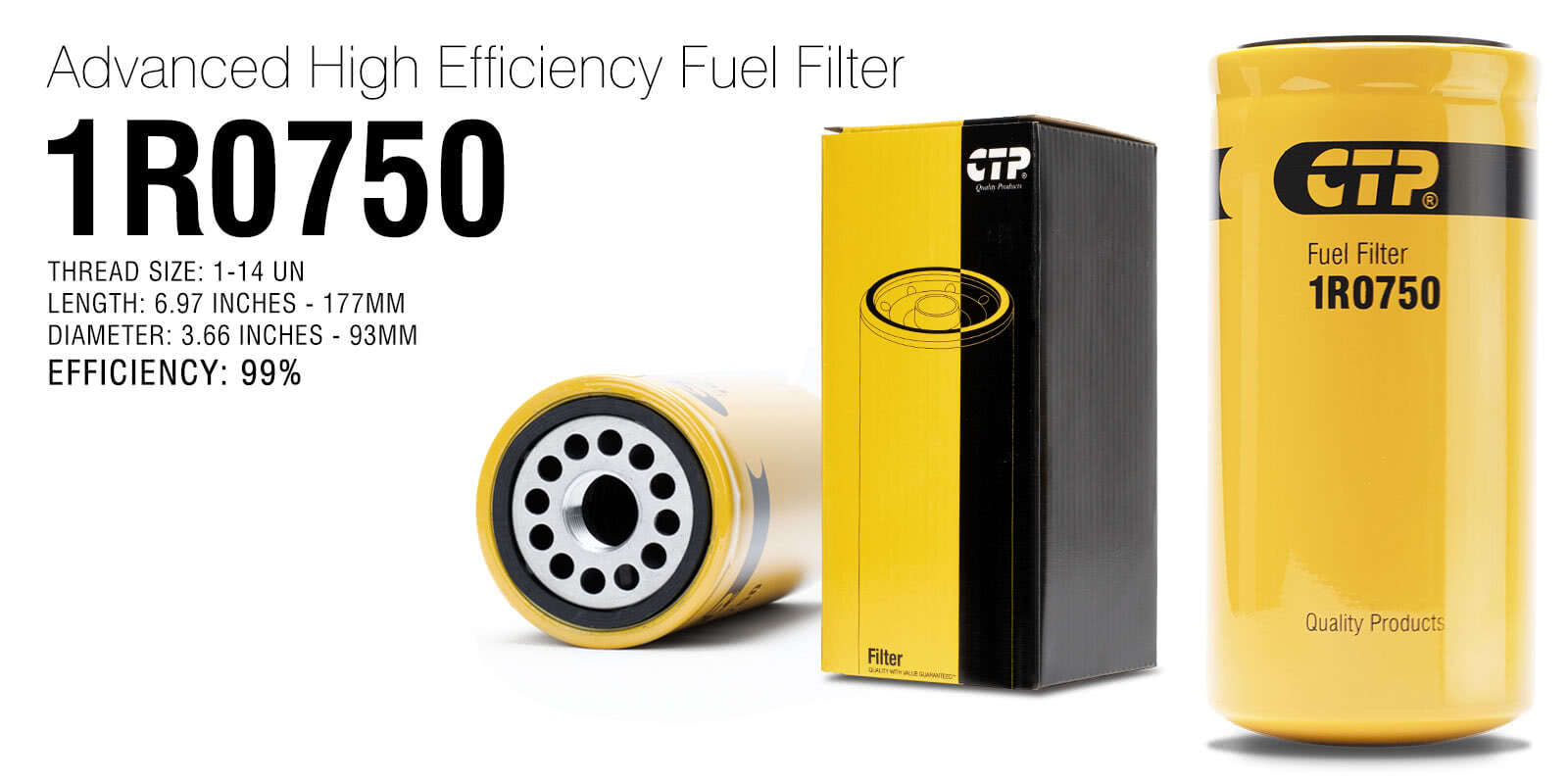 hight resolution of  aftermarket replacement fuel filter cat 1r 0750