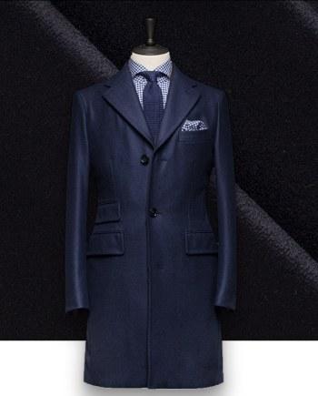 Manteau Bleu Nuit sur mesure paris