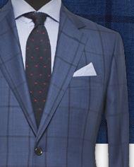 Costume bleu carreaux foncés costume sur mesure zoom