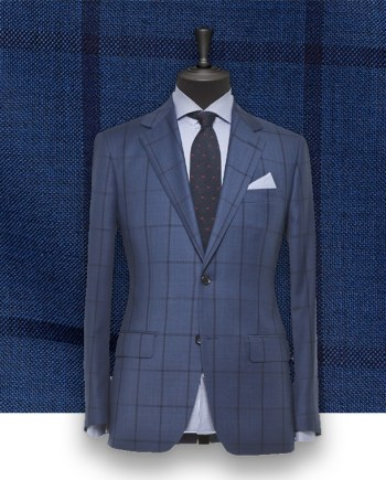 Costume Bleu carreaux foncés