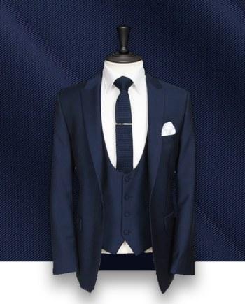 costume bleu 3 pièces costume sur mesure