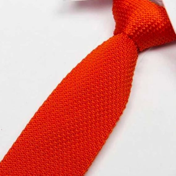 cravate tricot orange maille cravate italienne