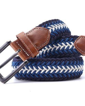ceinture tressée bleu bleu ciel diagonale fleche