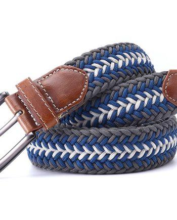 ceinture tressée tricolore gris flèche