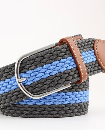 ceinture tressée bleu gris horizontal