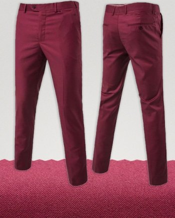 pantalon chino rose framboise homme