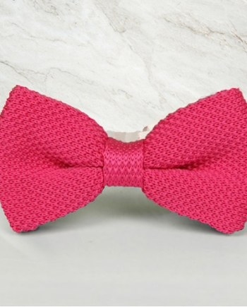 noeud papillon tricot rose mariage cérémonie maille tricot
