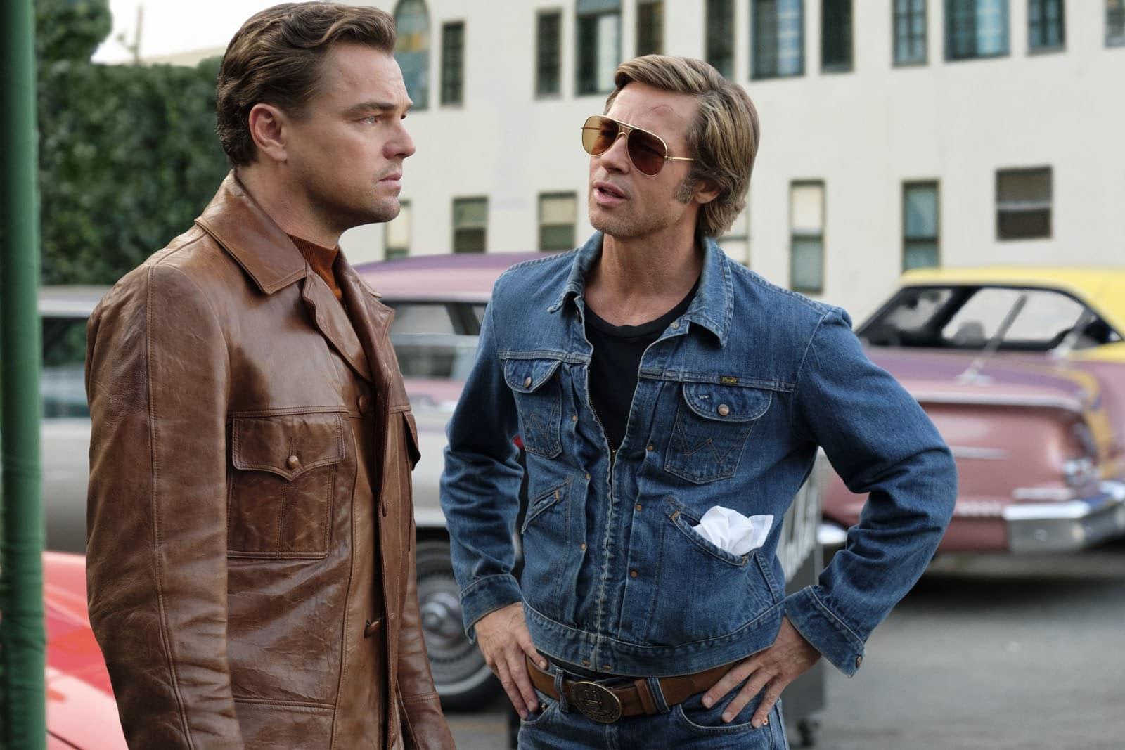 veste en cuir marron Di Caprio