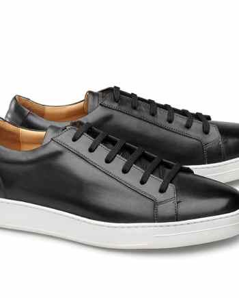 baskets cuir noir