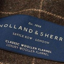 tissu holland and sherry costume sur mesure paris