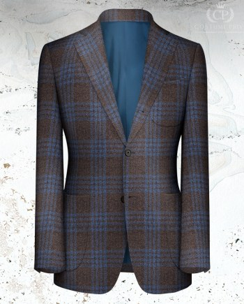 veste marron carreau bleu zealander hiver 20
