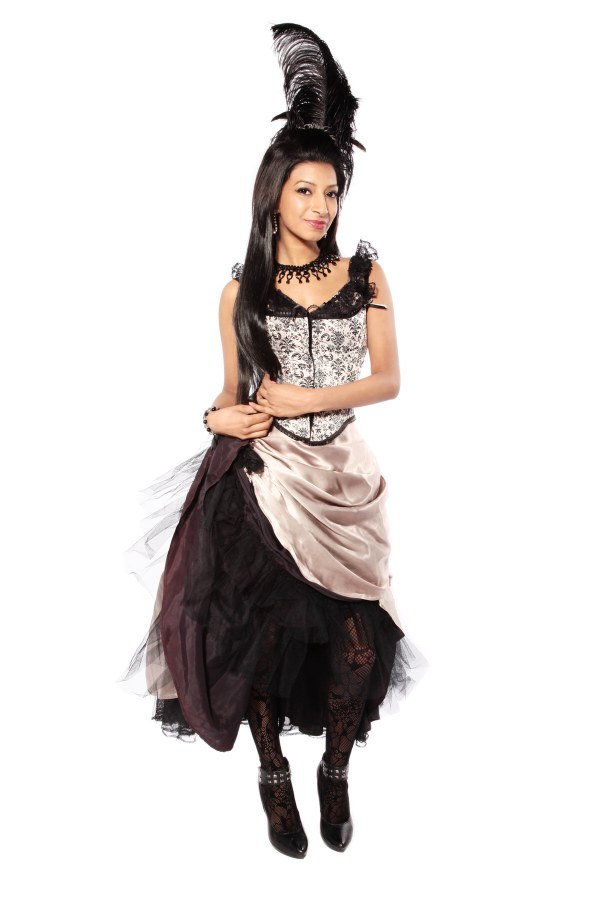 beige and black Moulin Rouge front