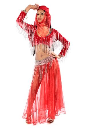 BELLY DANCING RED COSTUME