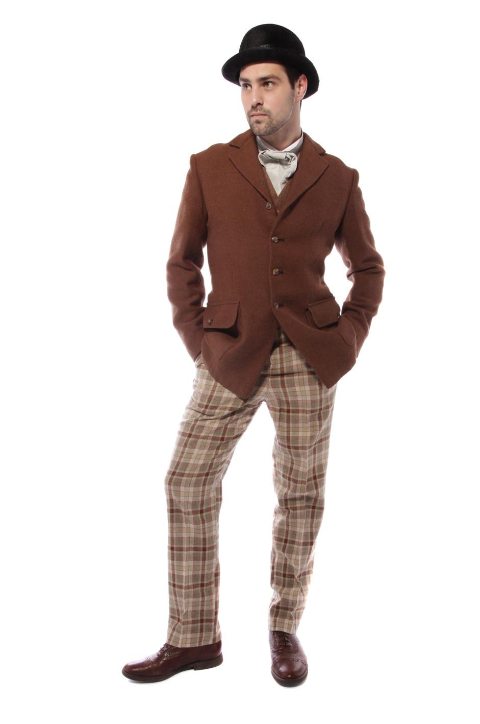 1920s YOUNG GENT TWEED COSTUME W WAISTCOAT