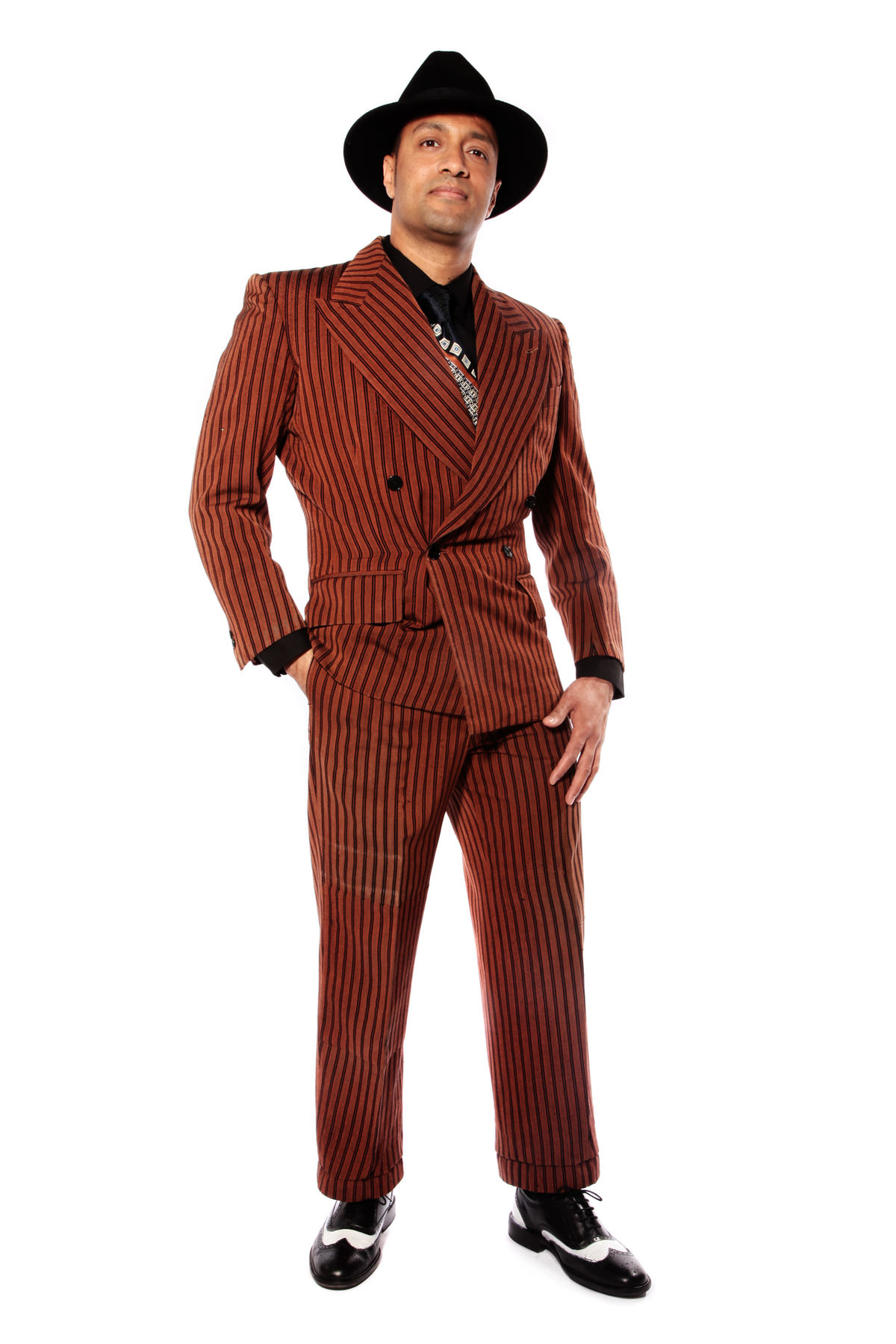 1930s GANGSTER JAZZ DUDE COSTUME W ZOOT-SUIT