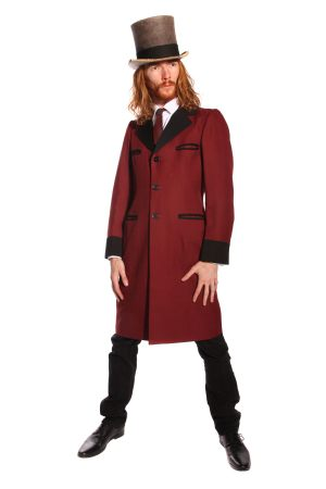 MAROON AND BLACK TEDDY BOY COSTUME