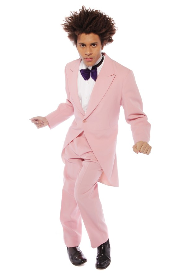 PINK TOP HAT AND TAILS CROONER COSTUME