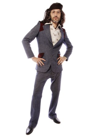70S HIPPY DUDE FLARED DENIM SUIT COSTUME