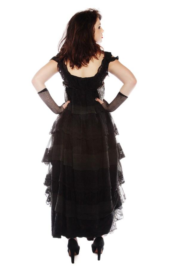 Evil countess vintage black dress Back