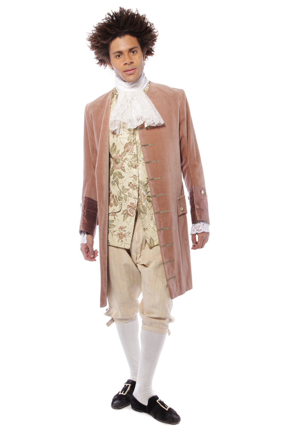 GEORGIAN GENT SALMON PINK AND BROCADE COSTUME
