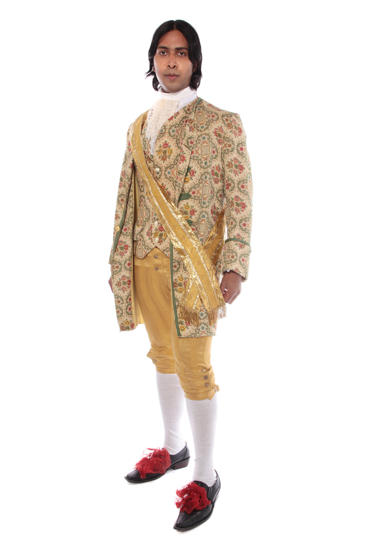 GEORGIAN GENT CREAM AND GOLD BROCADE COSTUME