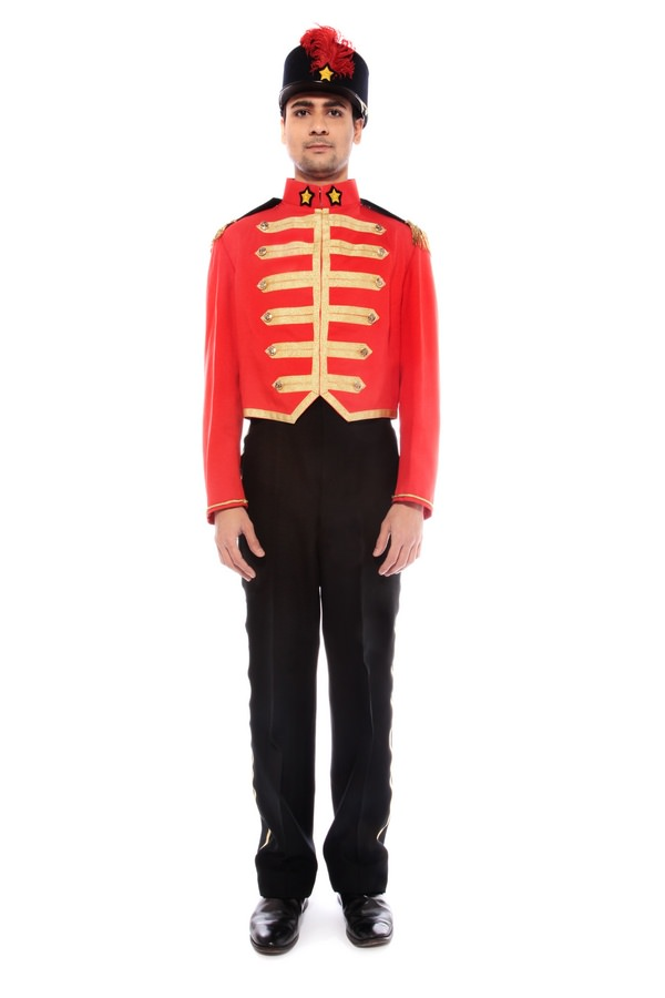 NUTCRACKER TOY SOLDIER COSTUME W HELMET & PLUME