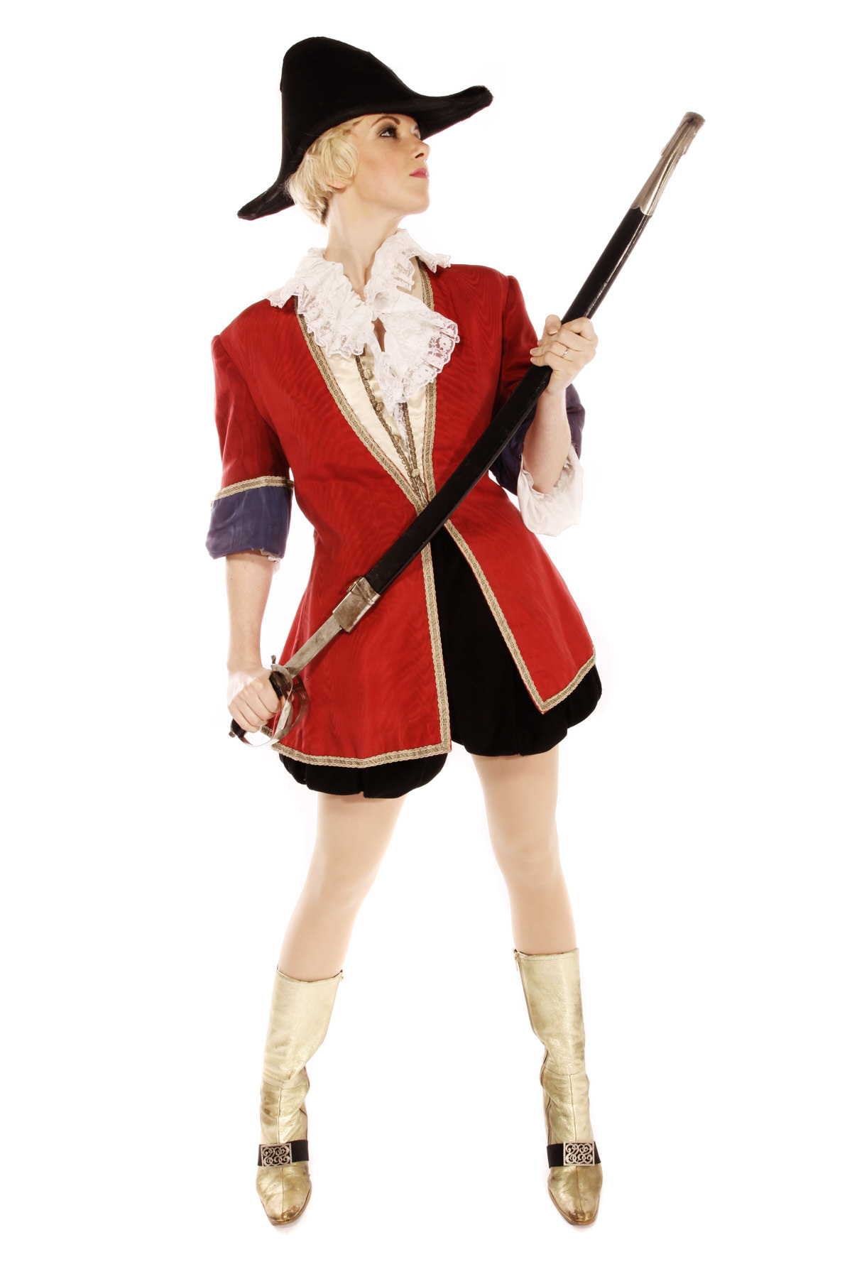 PRINCIPLE BOY PANTO PIRATE COSTUME W GOLD BOOTS