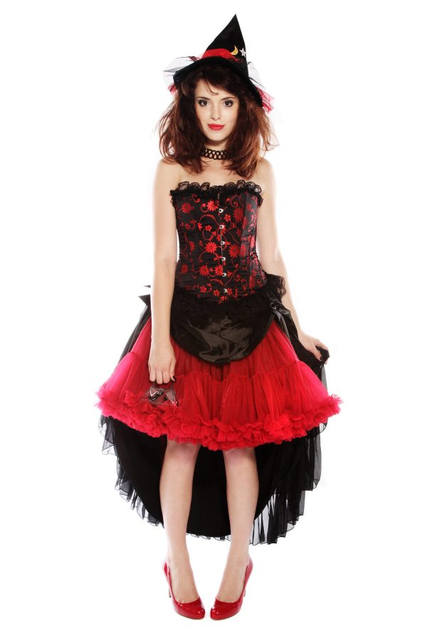 RED FROU FROU PETTICOAT WITCH COSTUME