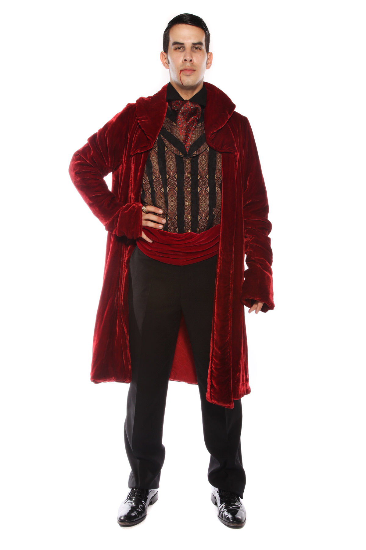 SUPER DELUXE VAMPIRE COUNT COSTUME WITH RED SASH